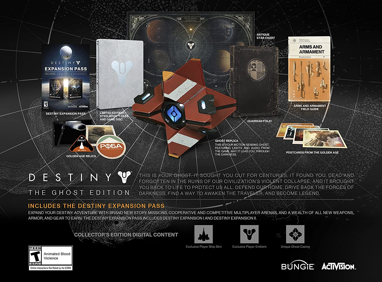 Amazon Com Destiny Ghost Edition Playstation 4 Video Games