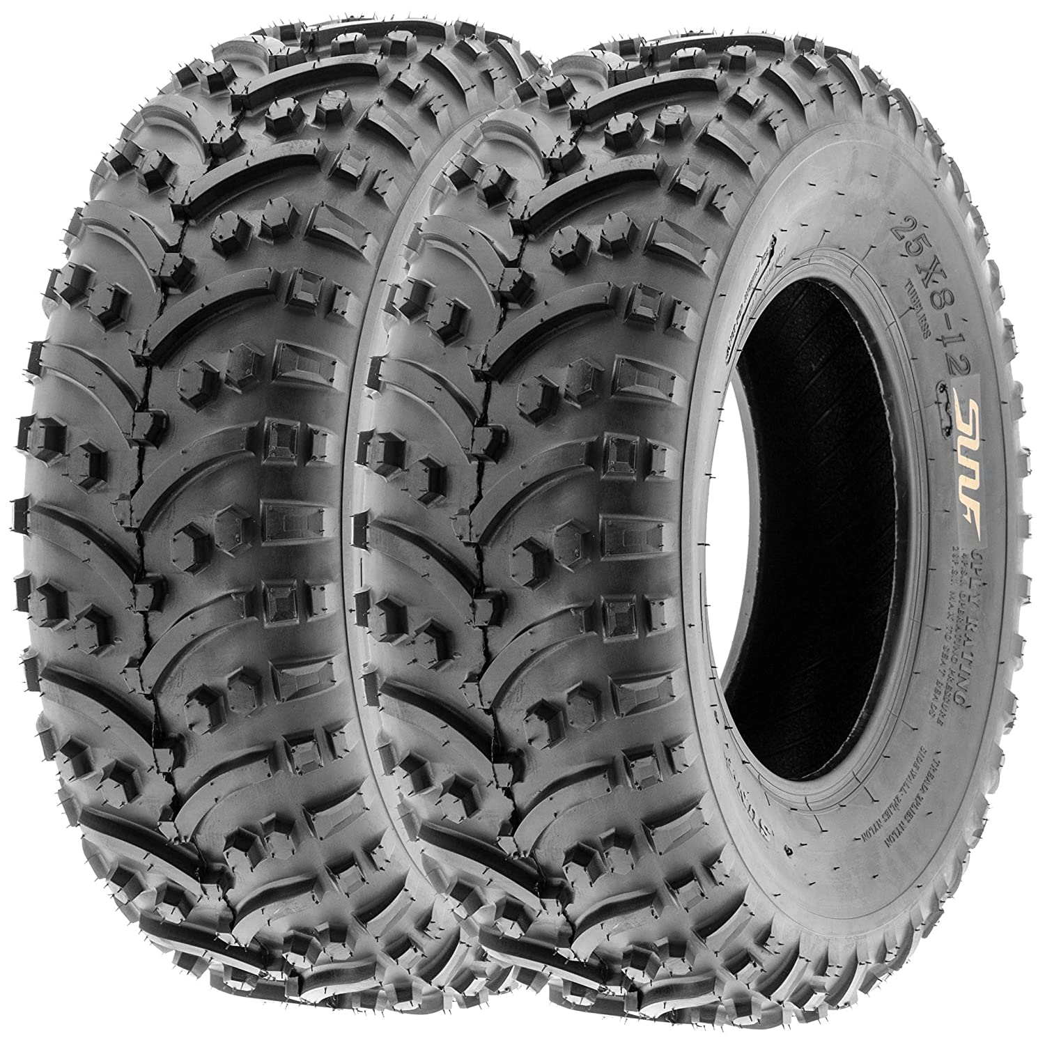 SunF 22x11-8 22x11x8 ATV UTV A/T All Trail Race Replacement Tubeless Tires A032, [Set of 2] LCF1|A032|221108||x2