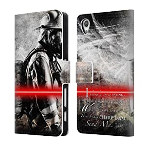 Official Jason Bullard Send Me Fireman Firefighter Leather Book Wallet Case Cover For Sony Xperia X