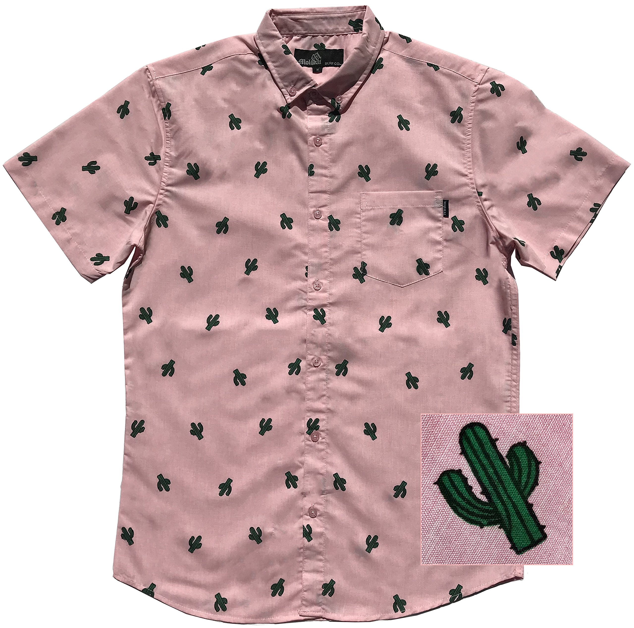 88d192ef M MOLOKAI SURF Official Molokai Button up Slim Fit Hawaiian Short Sleeve  Shirts