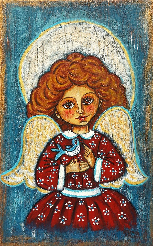 Amazon.com Angel wall art Christmas artwork Christmas angel