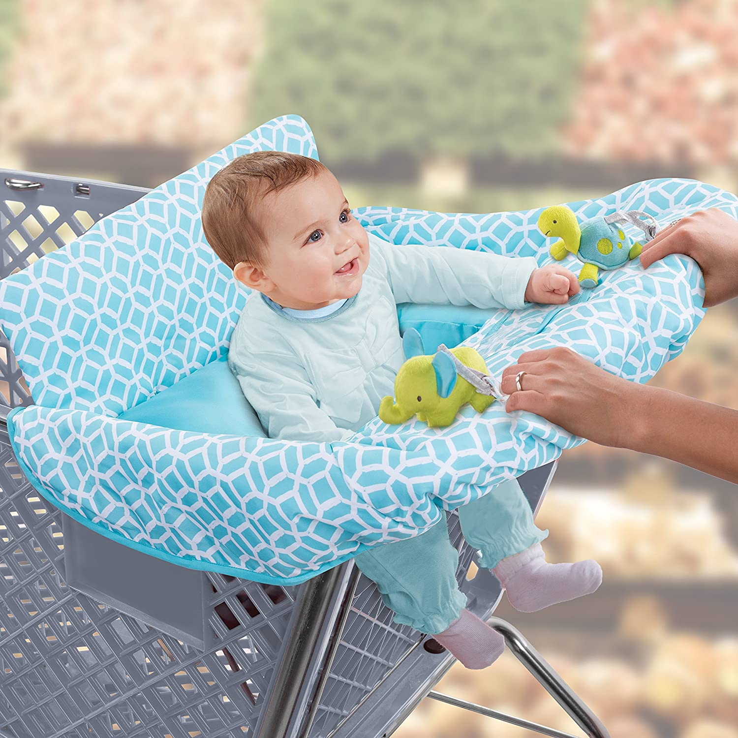 Diamonds Summer Infant 2-in-1 Cushy Cart Cover and Seat Positioner New Free S