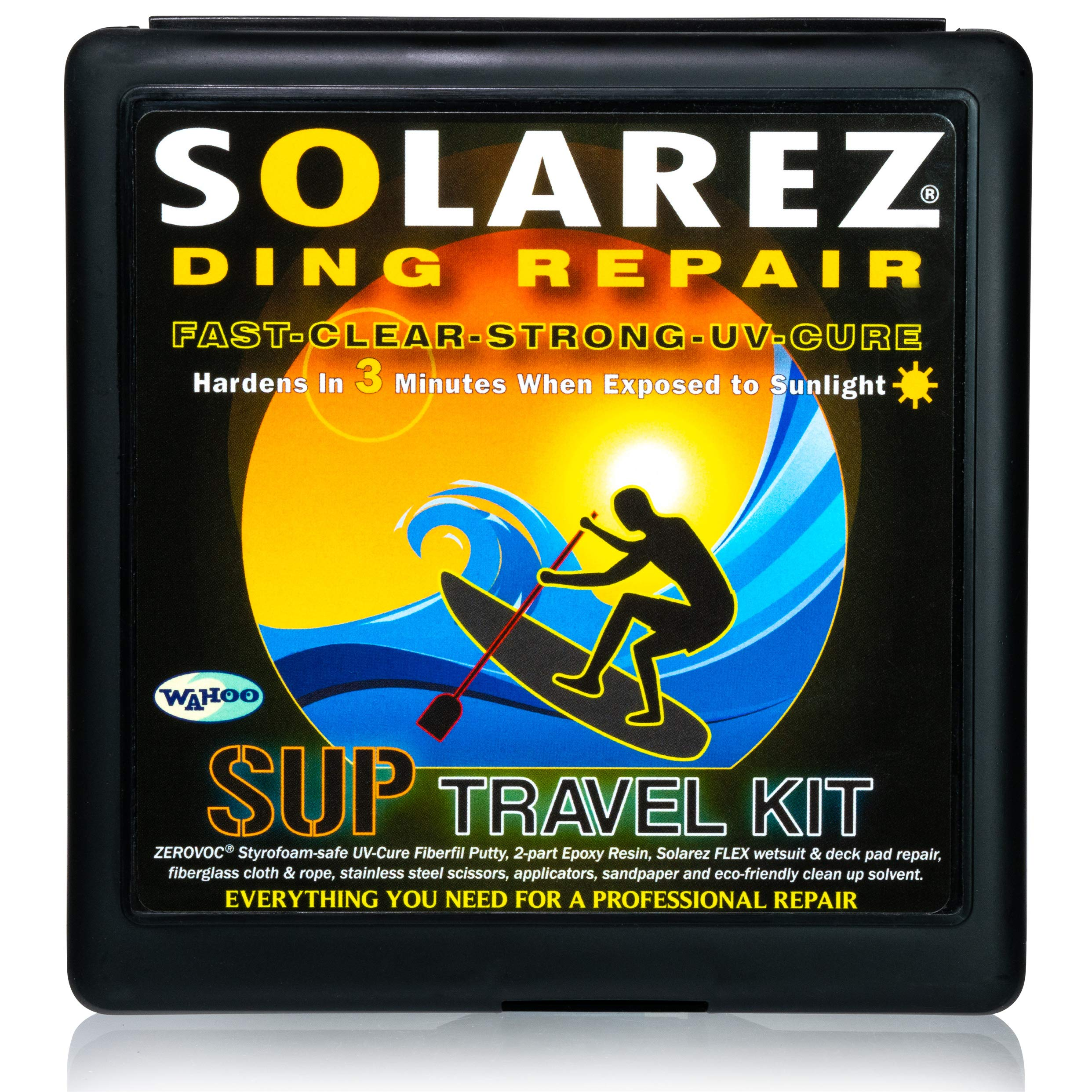 SOLAREZ UV Cure SUP Epoxy Pro Travel Kit - Epoxy Surfboard Repair Kit ~ Cures 3 min in The Sun! Epoxy Surfboard Repair, SUP Repair, Epoxy Wakeboard Repair, Low Odor ~ Eco Friendly, Made in The USA! by SOLAREZ