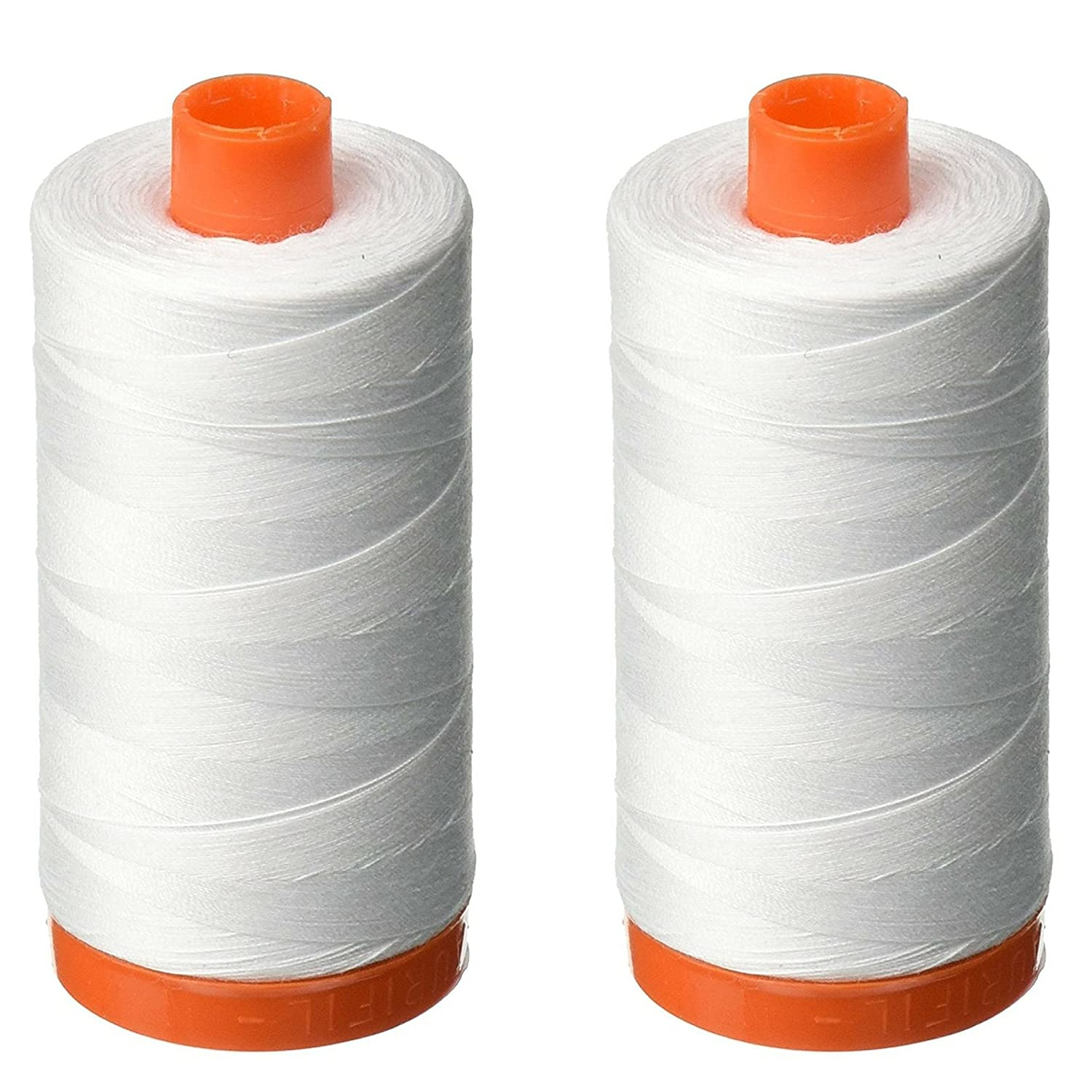 Aurifil A1050-2024 Mako Cotton Thread Solid 50WT 1422Yds White Aurifil USA