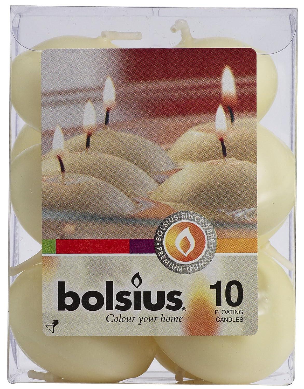 Bolsius Candela Galleggiante 30/45mm 4.5ore 10pz Avorio 103632052205