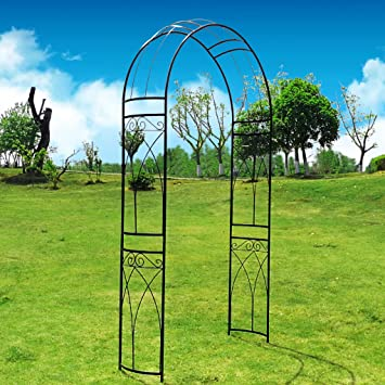 Outour Stereoscopic Metal Garden Arch Arbor Arbour Archway With