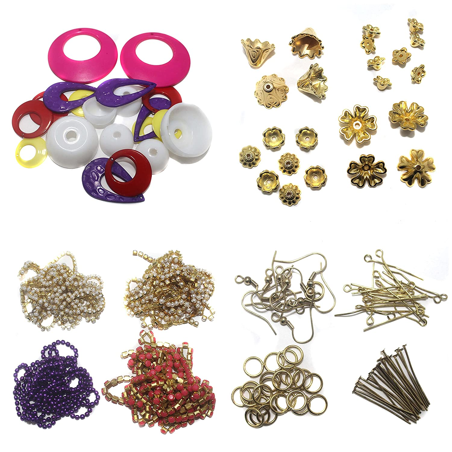 Beadsnfashion Silk Thread Jewellery Making Earring Beads Caps
