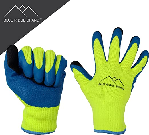 Amazon.com: Blue Ridge BrandTM Guantes de trabajo de látex ...