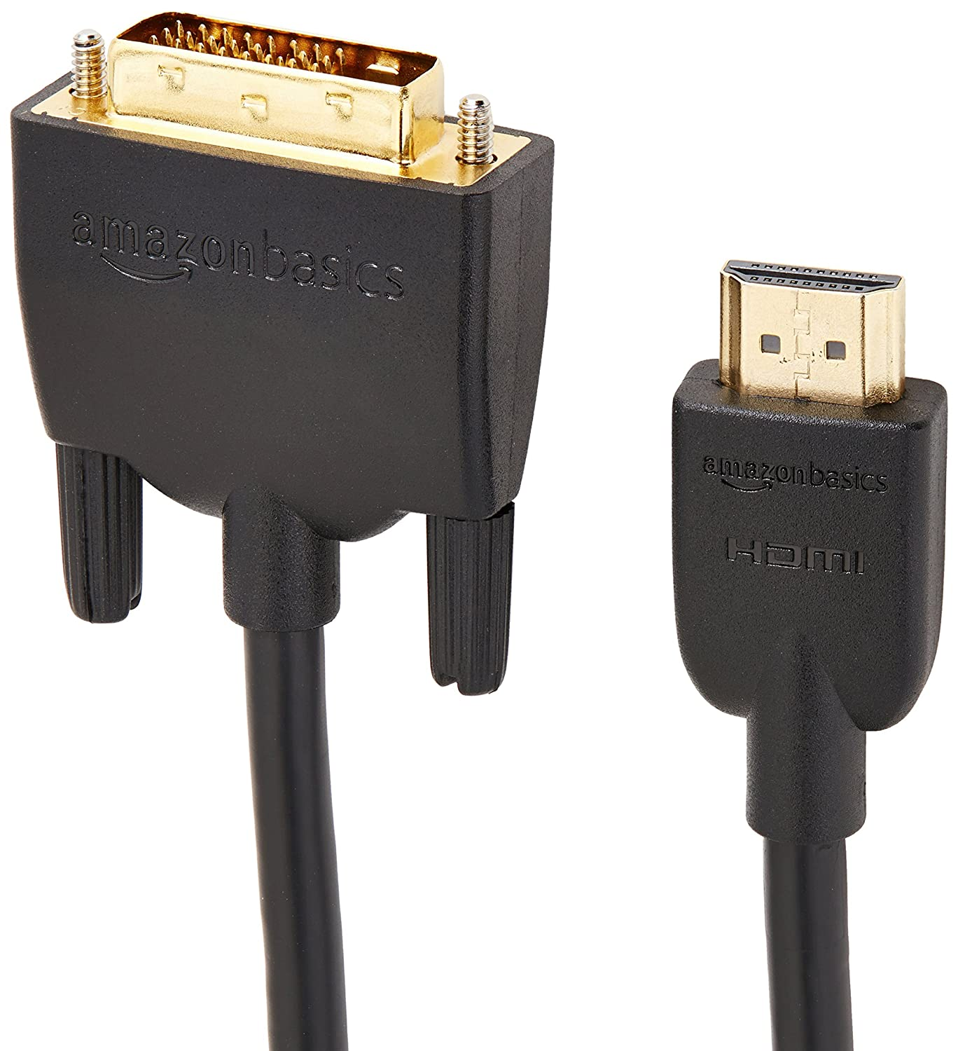 Basics DVI to HDMI Adapter Cable Not for connecting to SCART or VGA ports - 1.83m Latest Standard