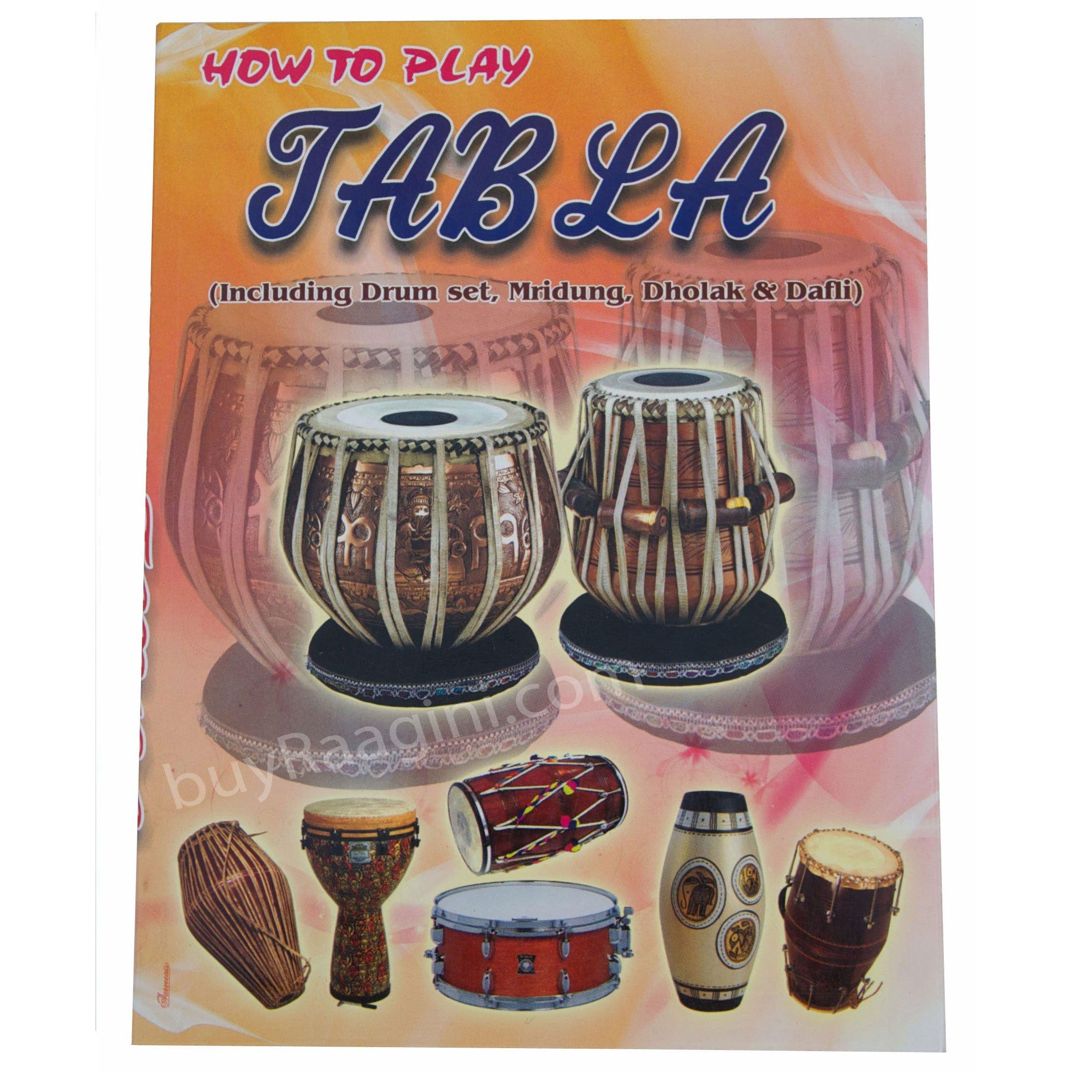 Tabla Set, Maharaja Musicals, 3.5 Kg Designer Golden Brass Bayan, Sheesham Tabla Dayan, Professional Drums, Padded Bag, Book, Hammer, Cushions, Cover, Tabla Drums Indian (PDI-FG) by Maharaja Musicals