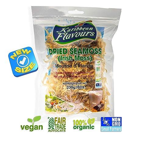KARIBBEAN FLAVOURS Musgo irlandés súper 230g Wildcrafted - Orgánico - NO OGM - vegano - Raw