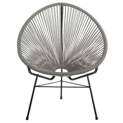Awe Inspiring Amazon Com Acapulco Outdoor Lounge Chair Grey Cord Camellatalisay Diy Chair Ideas Camellatalisaycom
