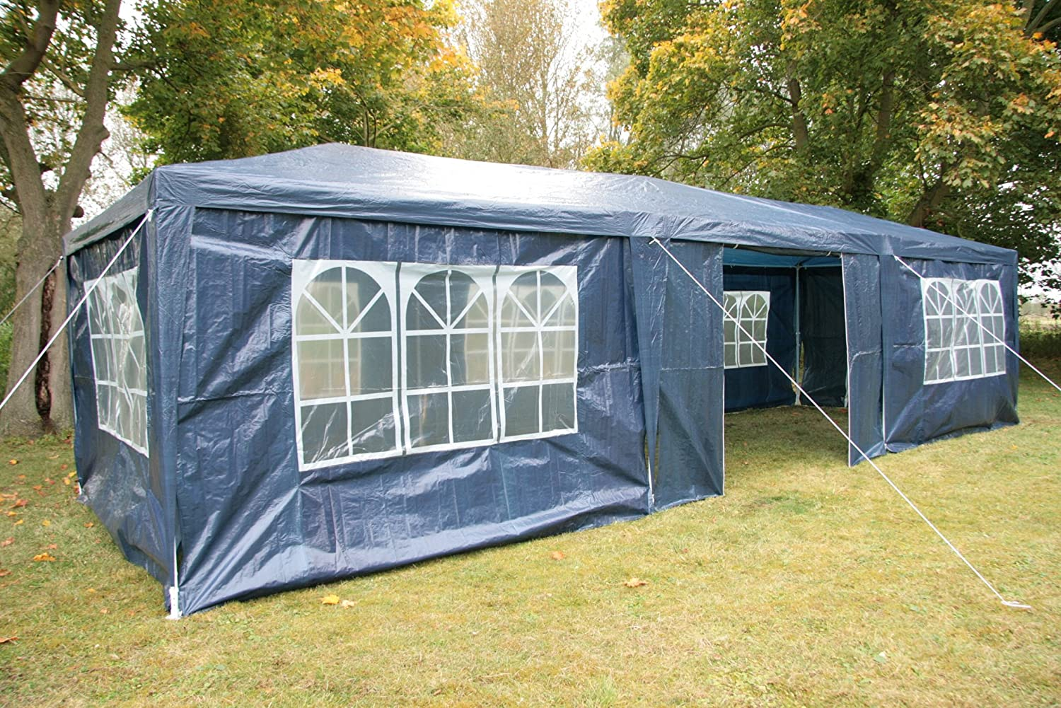 Airwave 3 x 9m Party Tent Gazebo Marquee with 3 x Unique WindBars and Side Panels 120g Waterproof Canopy Blue 120g Amazon.co.uk Garden u0026 Outdoors & Airwave 3 x 9m Party Tent Gazebo Marquee with 3 x Unique WindBars ...