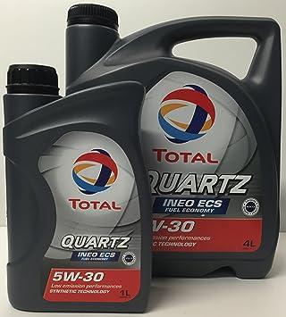 Aceite de motor TOTAL QUARTZ INEO ECS 5W30 5 litros (1x4 lts + 1x1 lt