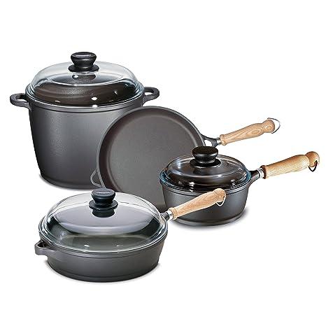Berndes 674005 Tradici-n de 7 piezas de aluminio fundido antiadherente utensilios de cocina