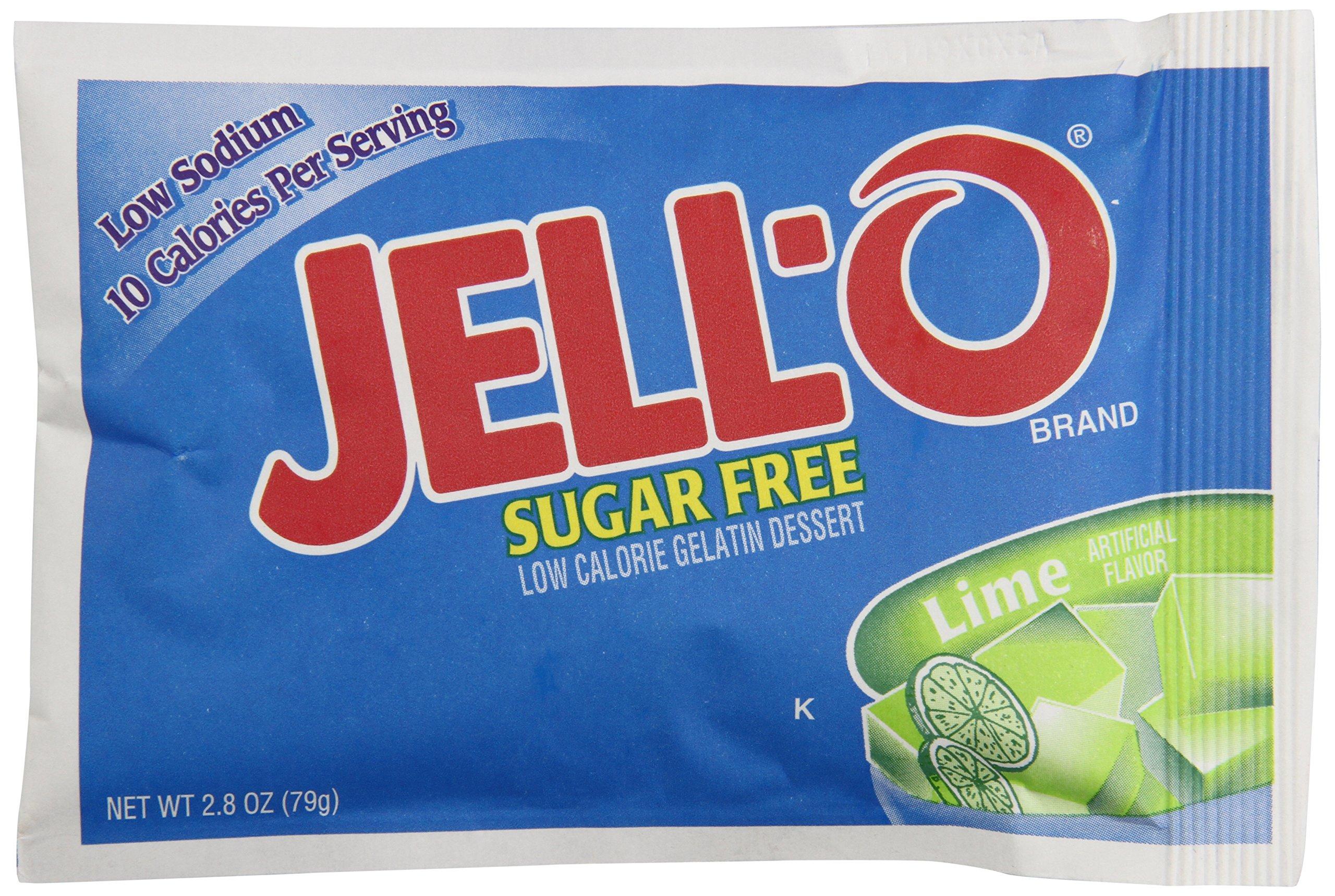 Jell-O Sugar Free Citrus Gelatin, 2.75 oz. pack, Pack of 18