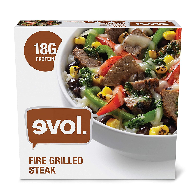 EVOL Fire Grilled Steak, Single Serve, Gluten Free, 18 Grams of Protein Per Serving, 9 Ounce (Frozen)