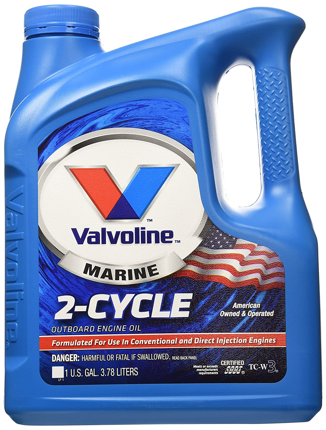 Valvoline 2 Cycle TC-W3 Outboard Marine Oil - 1gal (773735)