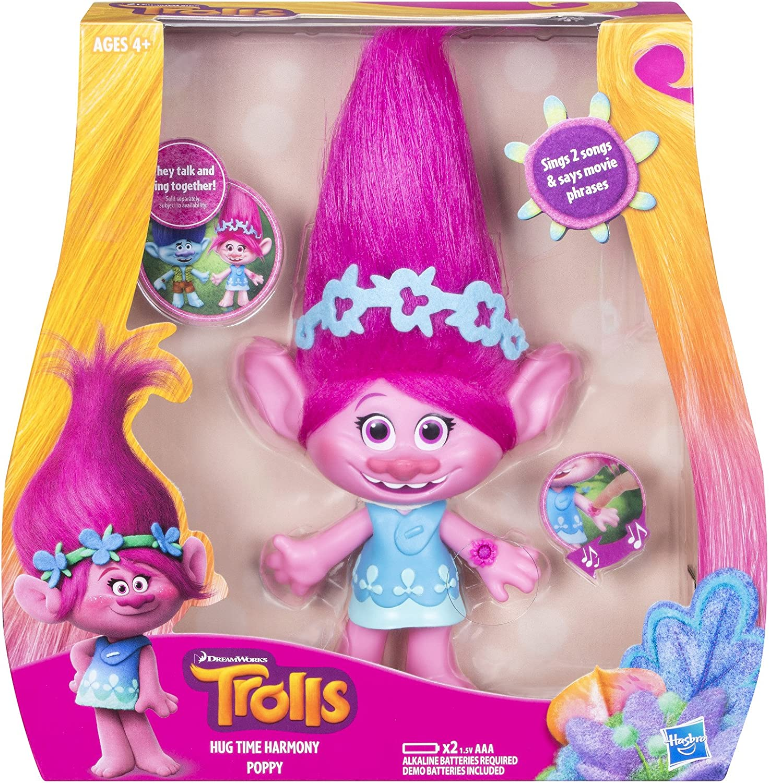 TROLLS 1000HV-6200 Poppy Dance Sing Nursery Mochila Hug 25 cm rosa