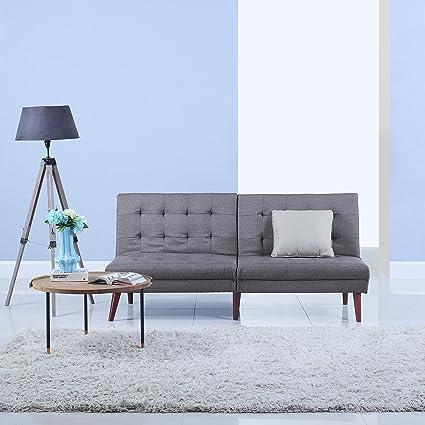 Terrific Amazon Com Divano Roma Furniture Modern Tufted Linen Squirreltailoven Fun Painted Chair Ideas Images Squirreltailovenorg