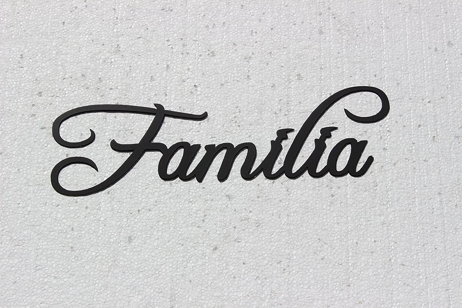 Familia Word Spanish word for Family Black Metal Wall Art Home Decor ...
