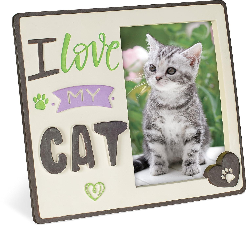 Amazoncom Angelstar I Love My Cat Photo Frame