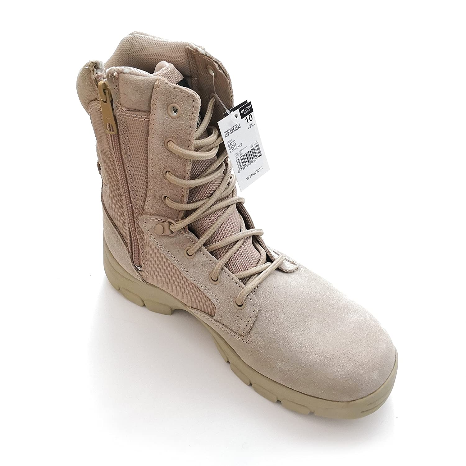3795ed7207c Texas Steer Mens Kamaal 2 Tan Work Boot Sand Combat Tactical Military Army  Shoes