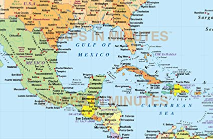 Map Of Us And Caribbean Amazon.com: Home Comforts Laminated Map   Map The Us Caribbean