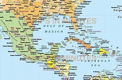 Amazoncom Home Comforts Laminated Map Map The Us Caribbean - Us-caribbean-map
