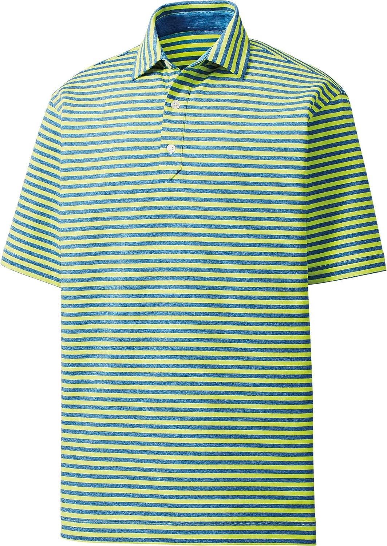 [フットジョイ] メンズ シャツ Footjoy Men's Heather Lisle Stripe Golf [並行輸入品] XXL  B07QPM9WGM