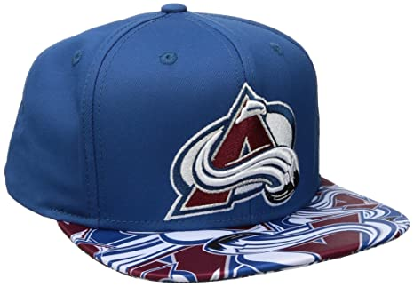 a4fa0935a3a ... france reebok nhl colorado avalanche mens sp17 all over print flat brim  snapback hat blue 9dab9
