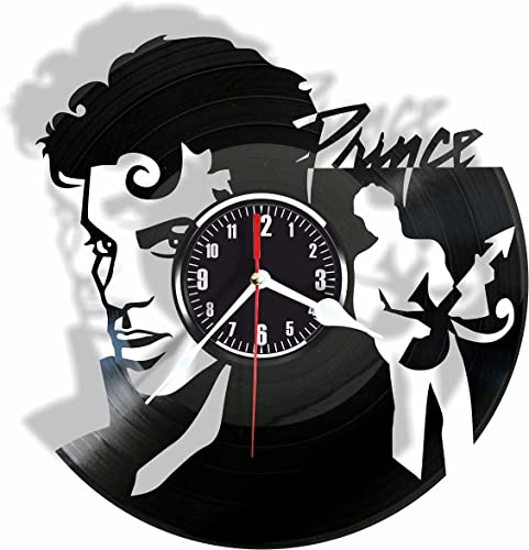 Rosidesignstudio Prince Vinyl Wall Clock- Modern Room Decor-Unique Handmade Gift for Friends and Someone You Love
