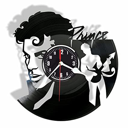 438758687e Amazon.com: PRINCE vinyl Wall Clock- Modern room decor-Unique ...