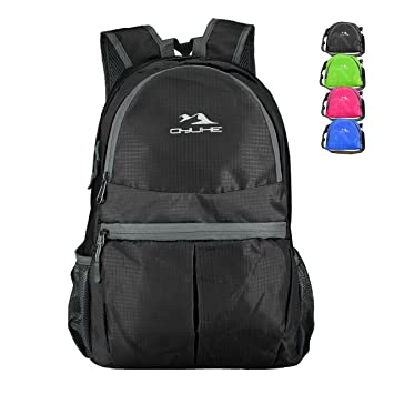Qyuhe® Mochila ultra ligera, ideal para viajar y hacer senderismo, negro: Amazon.es: Deportes y aire libre