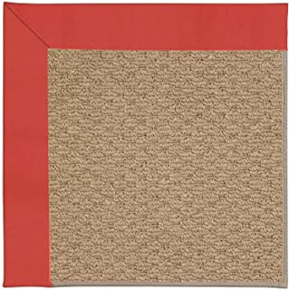 product image for Capel Rugs Zoe-Raffia Rectangle Machine Tufted Area Rug, 2 x 3', Sunset Red
