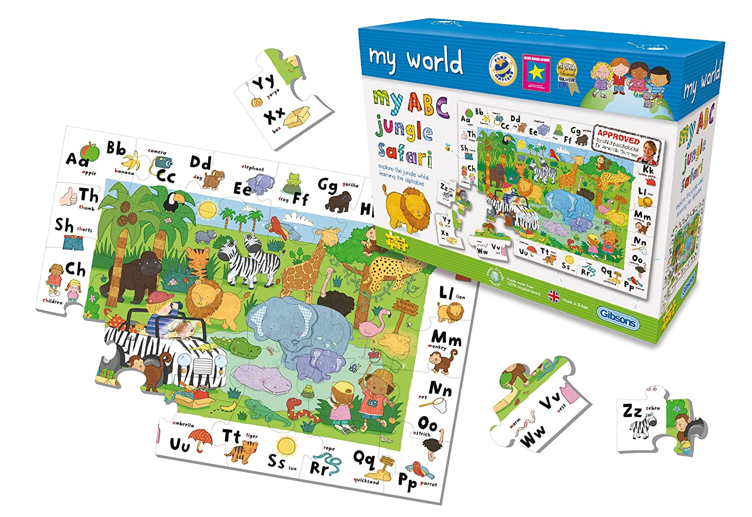 Gibsons My World My ABC 30 piece Jigsaw Puzzle G1007 Puzzles