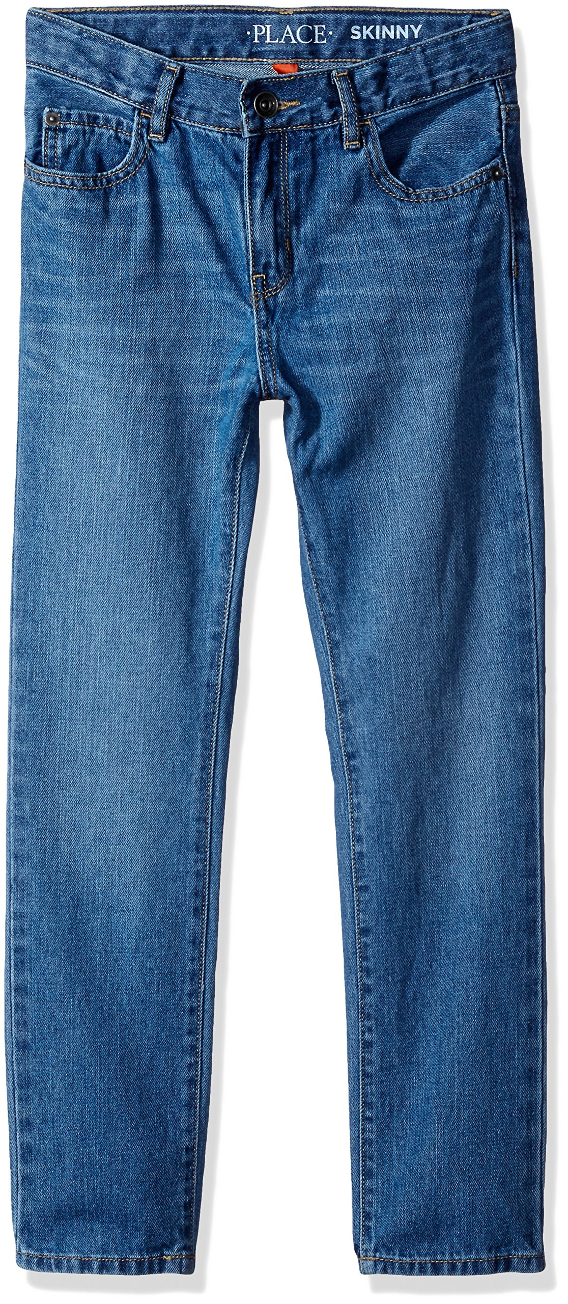 The Children's Place Big Boys' Skinny Jeans, Carbon WSH 1439, 12