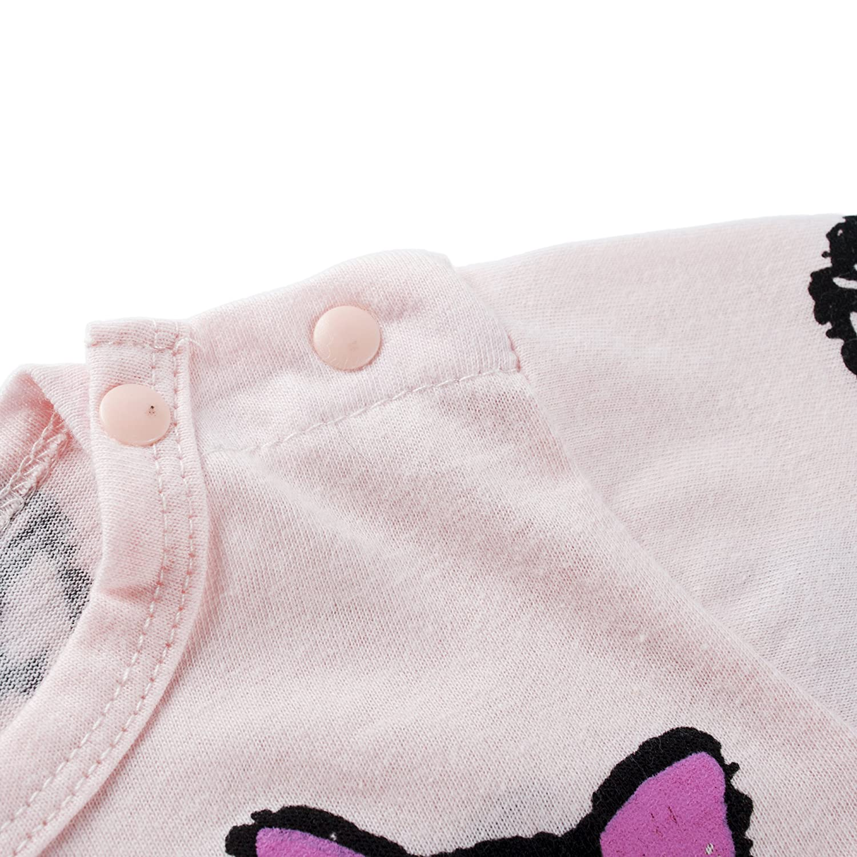 BIG ELEPHANT Pijama estampado de manga larga de 1 piezas para ni/ñas beb/és K26