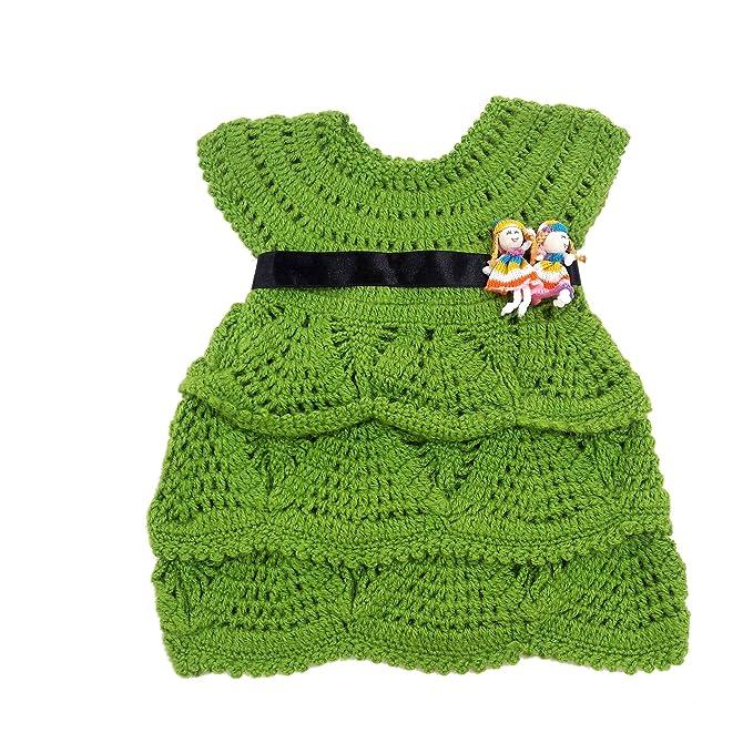 9e1904af4 Nouf Creation Hand Made Baby Girls Party Wear Woolen Dress (6 Months ...