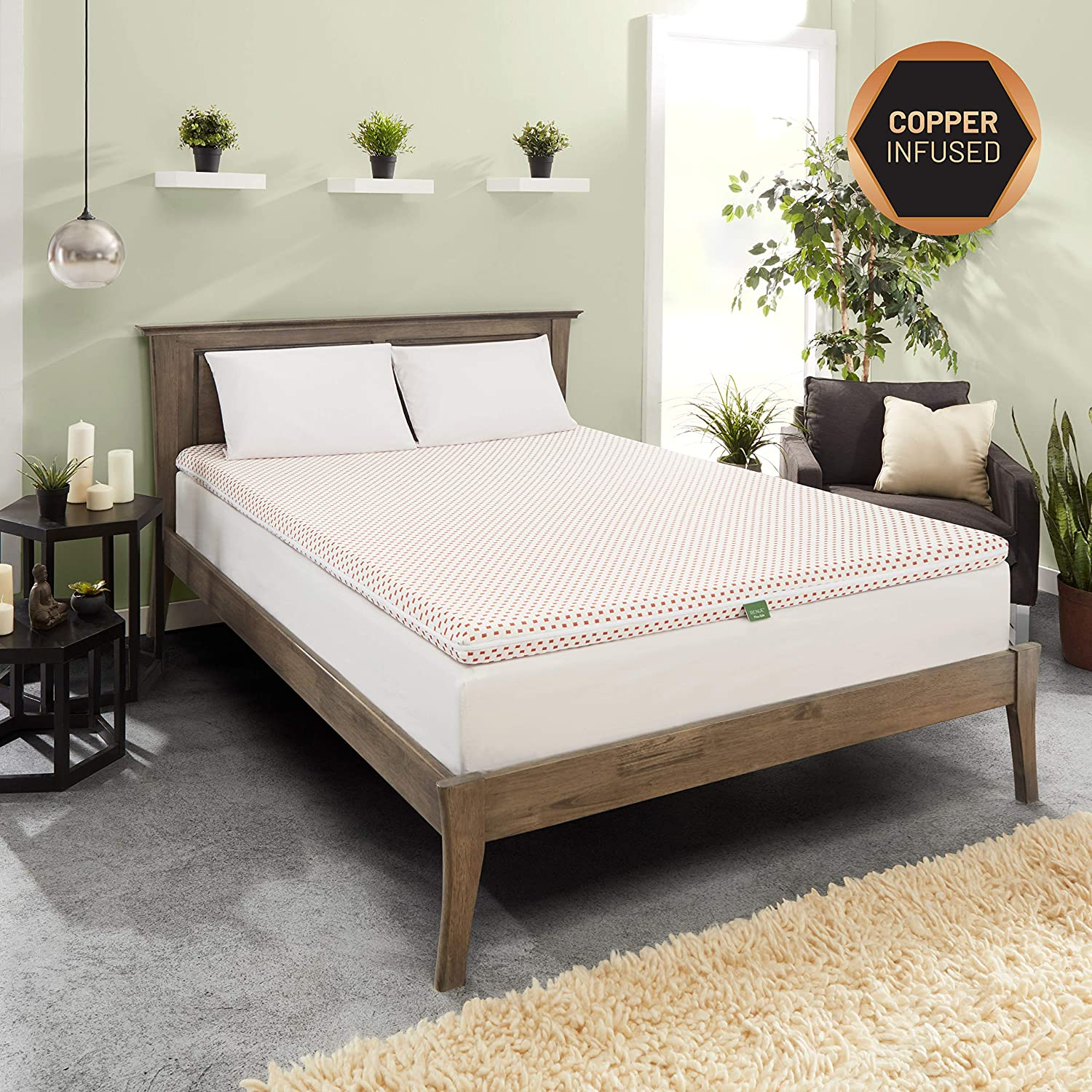 Best Cooling Gel Mattress Topper Twin Copper Infused ...