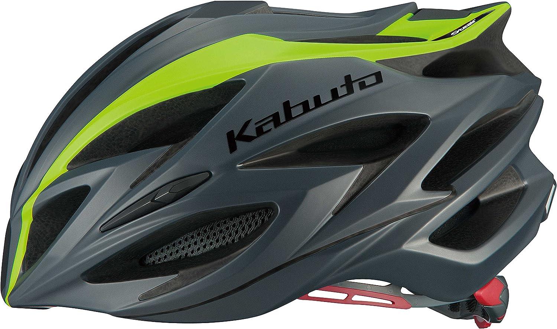 OGK KABUTO(オージーケーカブト) ヘルメット STEAIR ラインマットグリーン S/M