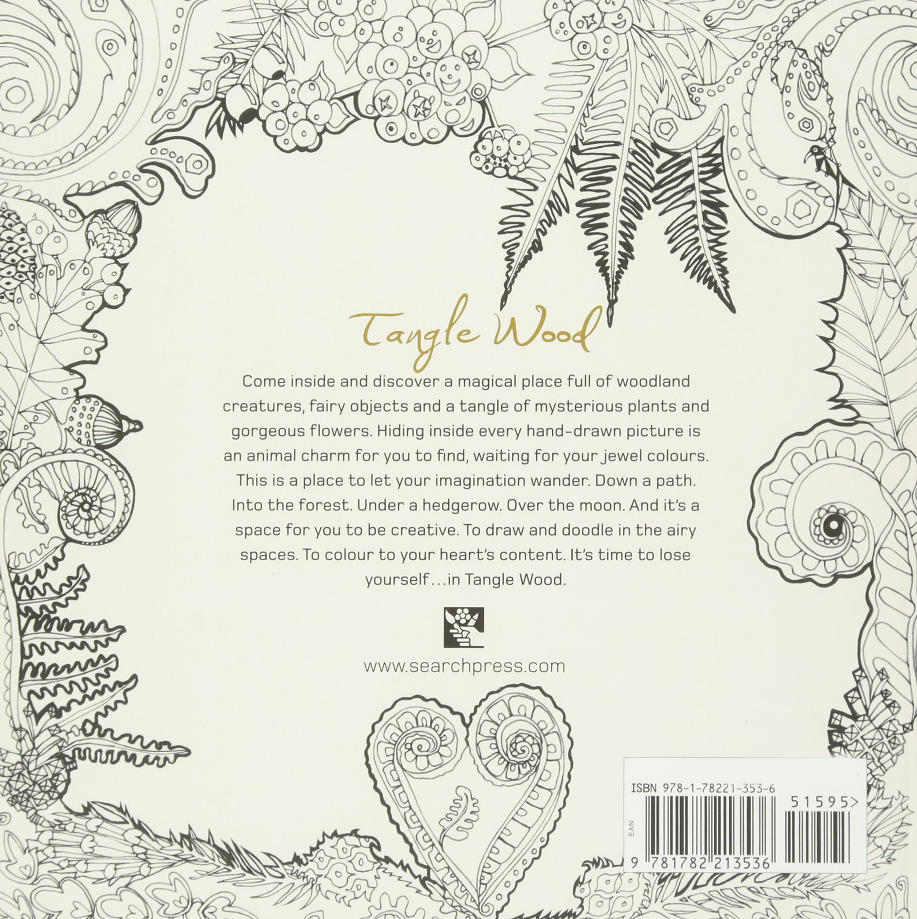 Tangle Wood A Captivating Colouring Book With Hidden Jewels Jessica Palmer 0499995258716 Amazon Books