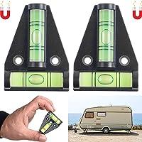 Magnetische waterpas, 2 stuks, Kleine cross waterpas voor camper en stacaravan, Waterpas voor caravan nivelleren…