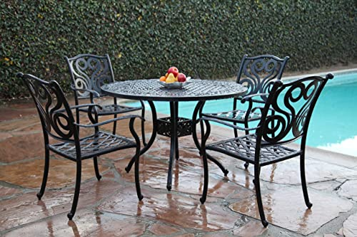 Grand Patio Furniture Outdoor Cast Aluminum 5 Piece Outdoor Dining Set PR-2