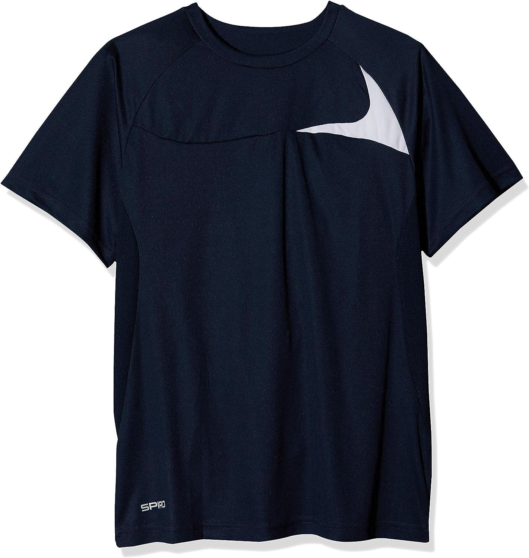 adidas Spiro Hombre Dash formación Camisa, Hombre, Dash Training, Azul y Blanco, Mediano
