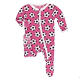 Kickee Pants Little Girls Print Footie with Zipper