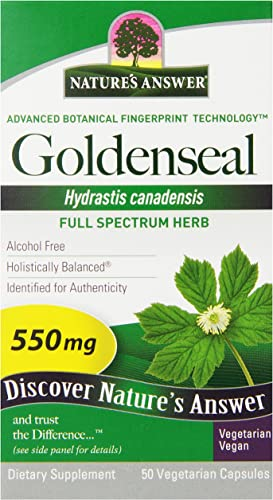 Nature s Answer Goldenseal Root Vegetarian Capsules, 50-Count