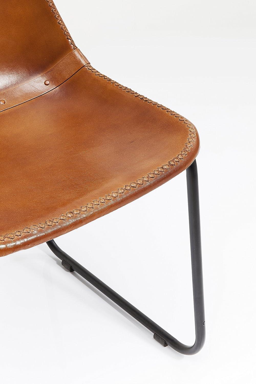 78 x 42 x 45 cm Kare Sedia Vintage Pelle Marrone