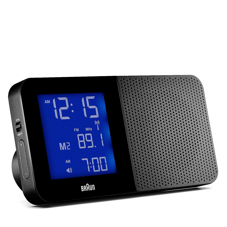 Braun BNC010BK - Reloj despertador digital con control por radio global, color negro: Amazon.es: Hogar