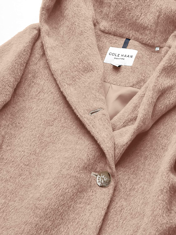Cole Haan Womens Alpaca Blend Dropped Shoulder Coat